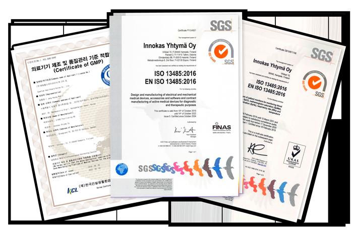 Innokas ISO certificates
