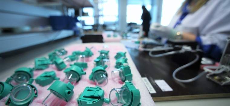Innokas Medical's Tallinn factory enables the cost-efficient mass production of D-Fend Pro Water Traps to GE Healthcare