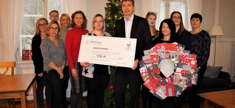 Innokas Medical visited the Ronald McDonald House in Helsinki with Christmas Greetings