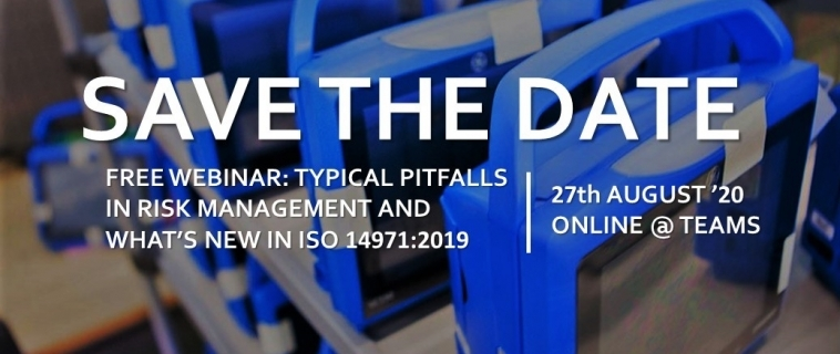 Free Webinar – Typical pitfalls in risk management and what's new in ISO 14971:2019