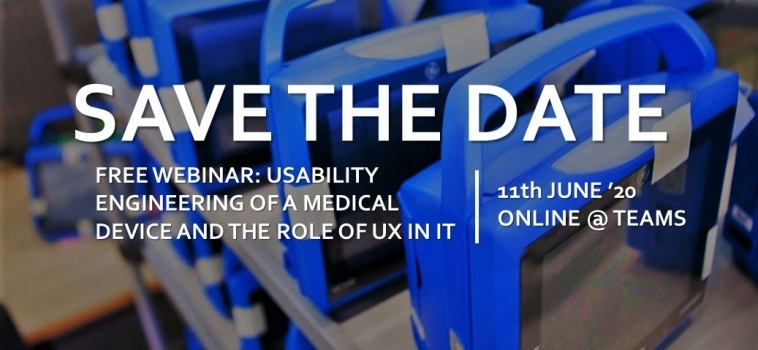 Free Webinar – Usability Engineering of a Medical Device and the role of UX in it