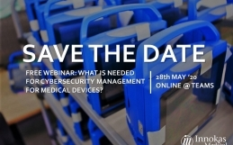 Free Webinar – What is needed for Cybersecurity Management for Medical Devices?