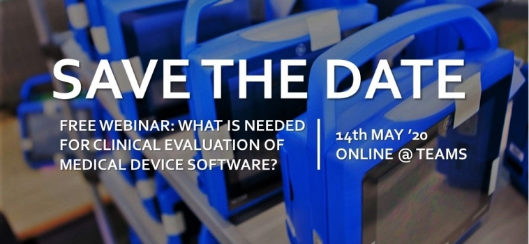 Free Webinar – What is needed for Clinical Evaluation of Medical Device Software?