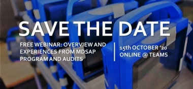 Free Webinar – Overview and experiences from MDSAP program and audits