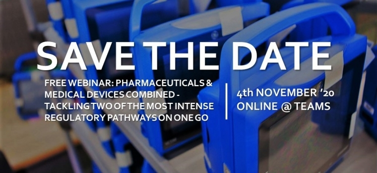 Free Webinar: Pharmaceuticals & Medical Devices combined – tackling two of the most intense regulatory pathways on one go